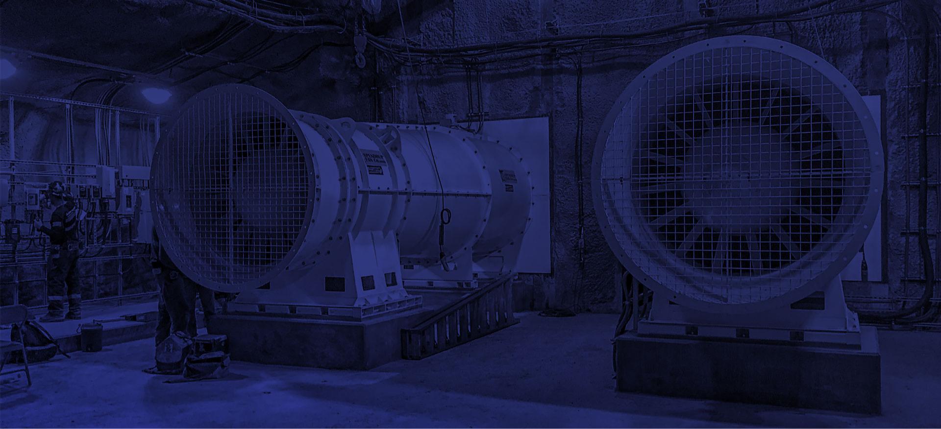 custom industrial fans for mining