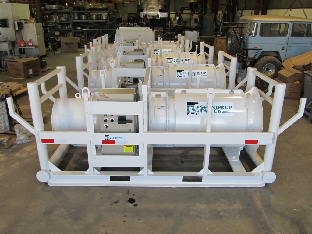 """Fan Model:Fan,063-040-3600-A-1-D,40hp,24"""" Diameter With Skid and Cage Assembly"""