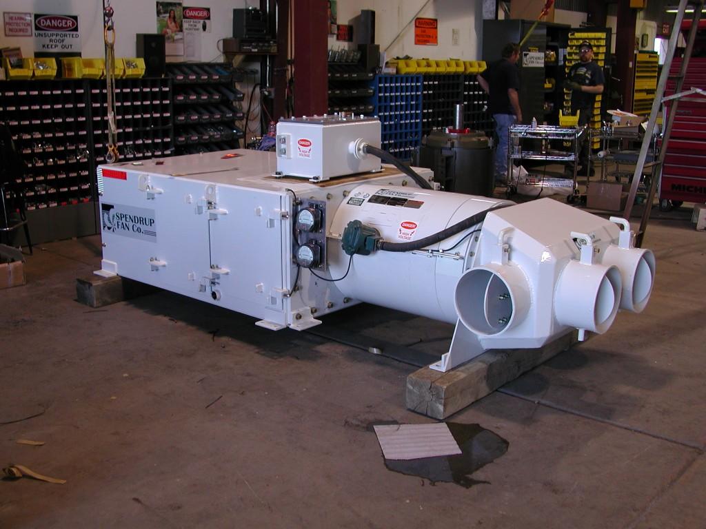 """Fan Model:Fan,055-030-3600,30hp,MSHA Rated, 22"""" Diameter, Longwall Scrubber System"""